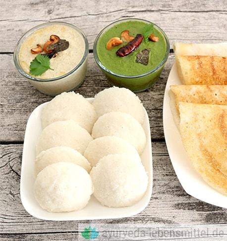 Essen Ernährung Idli Indisch Rezepte