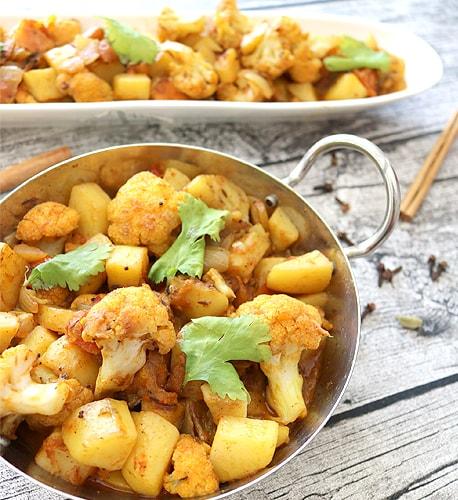 Kartoffel-Blumenkohl-Curry Rezepte Ayurvedische Küche