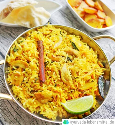Biryani – Indischer Gewürz-Reis Ayurvedisches Reisgericht